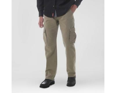 NEW MENS WRANGLER CARGO RELAXED FIT TECH POCKET PANTS BROWN