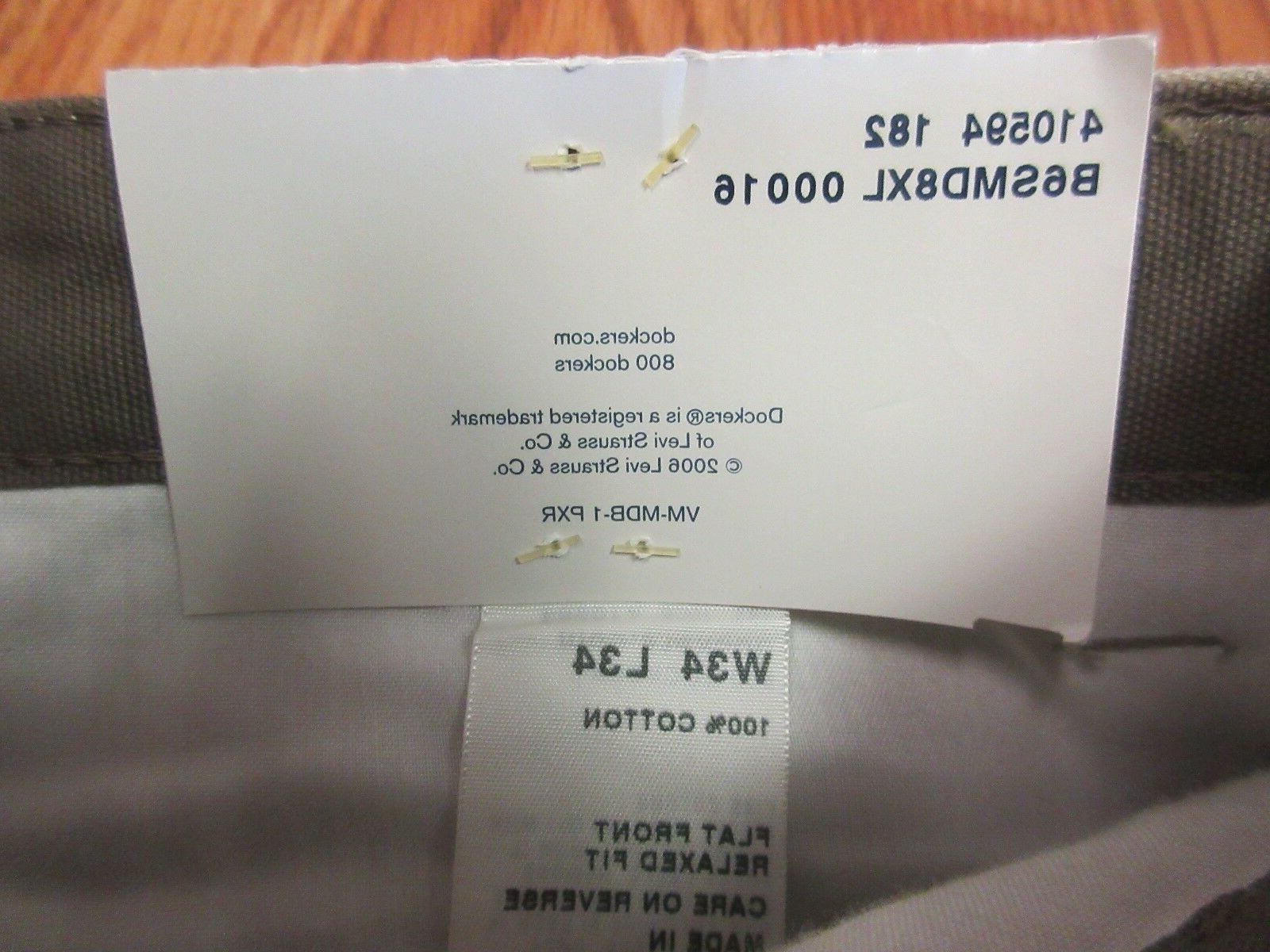 NEW! CARGO Mens COTTON KHAKI Sz x 34L
