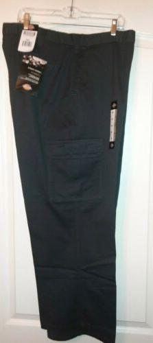 NWT Dickies Cargo Grey Loose Fit Pants Size 42x30 100% Cotto