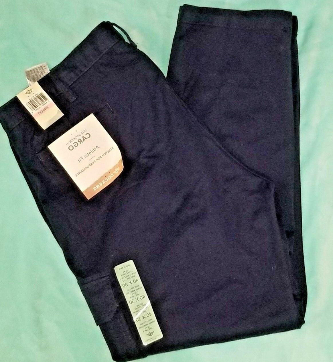 Dockers NWT Men's Big and Tall Athletic Cargo Pants with Str