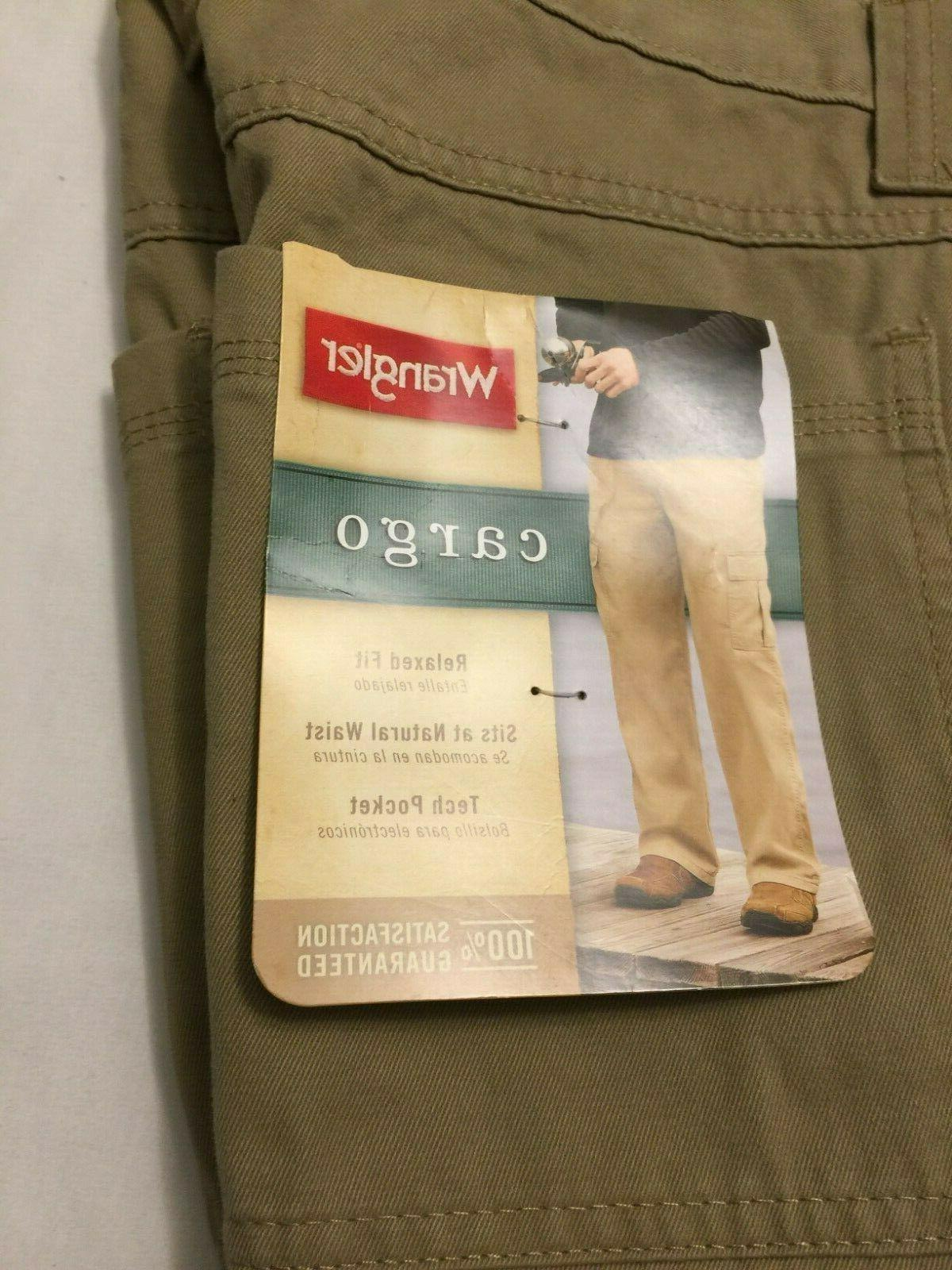 NWT Wrangler Relaxed Fit KHAKI KHAKIS 70LEWGR Pocket Pants