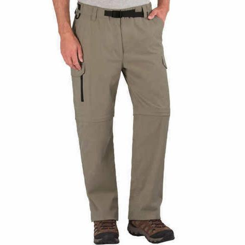 NWT BC Clothing^ Men's Convertible Stretch Cargo Hiking Pant
