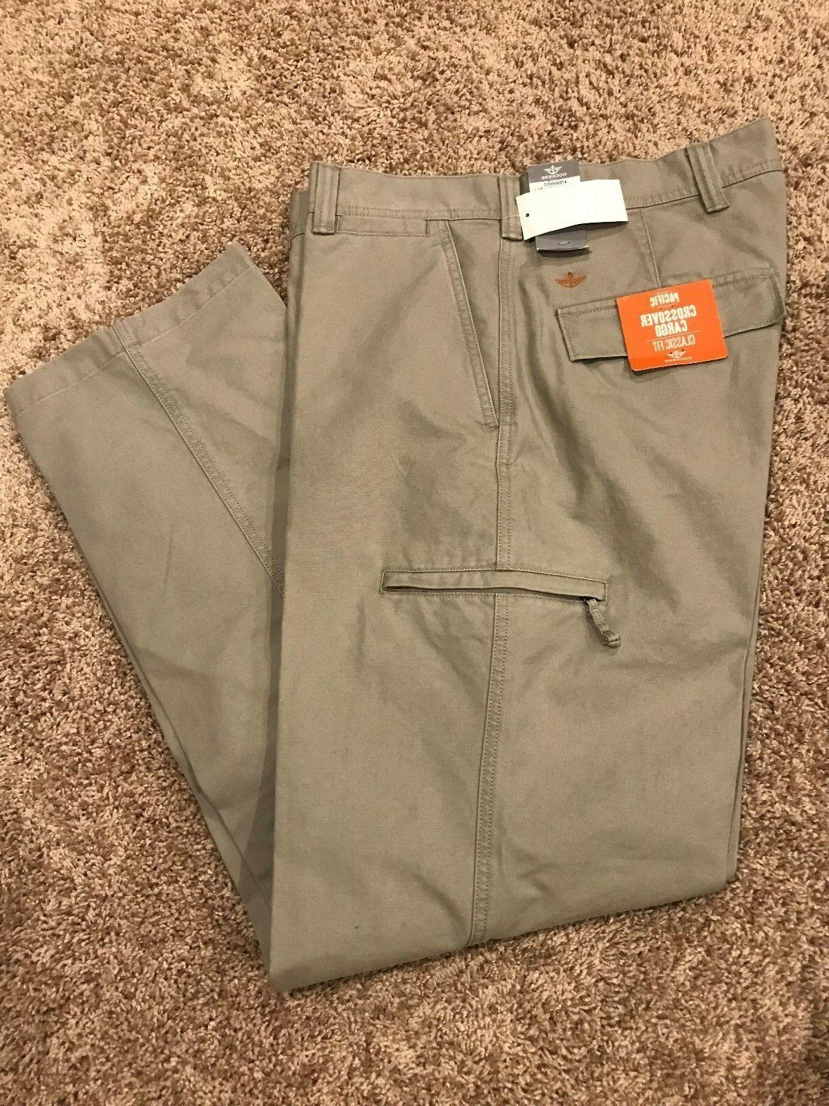 DOCKERS Crossover Cargo Pants Size 42 X 32 Classic Fit D3 Pa