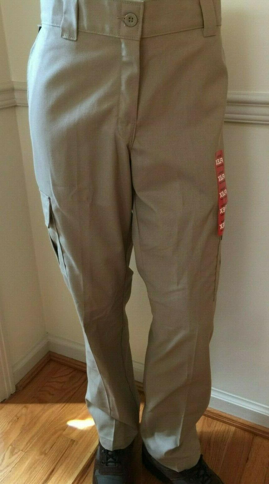 NWT Flex WP595 DP Dickies Work Uniform Cargo Pants Slacks Tan