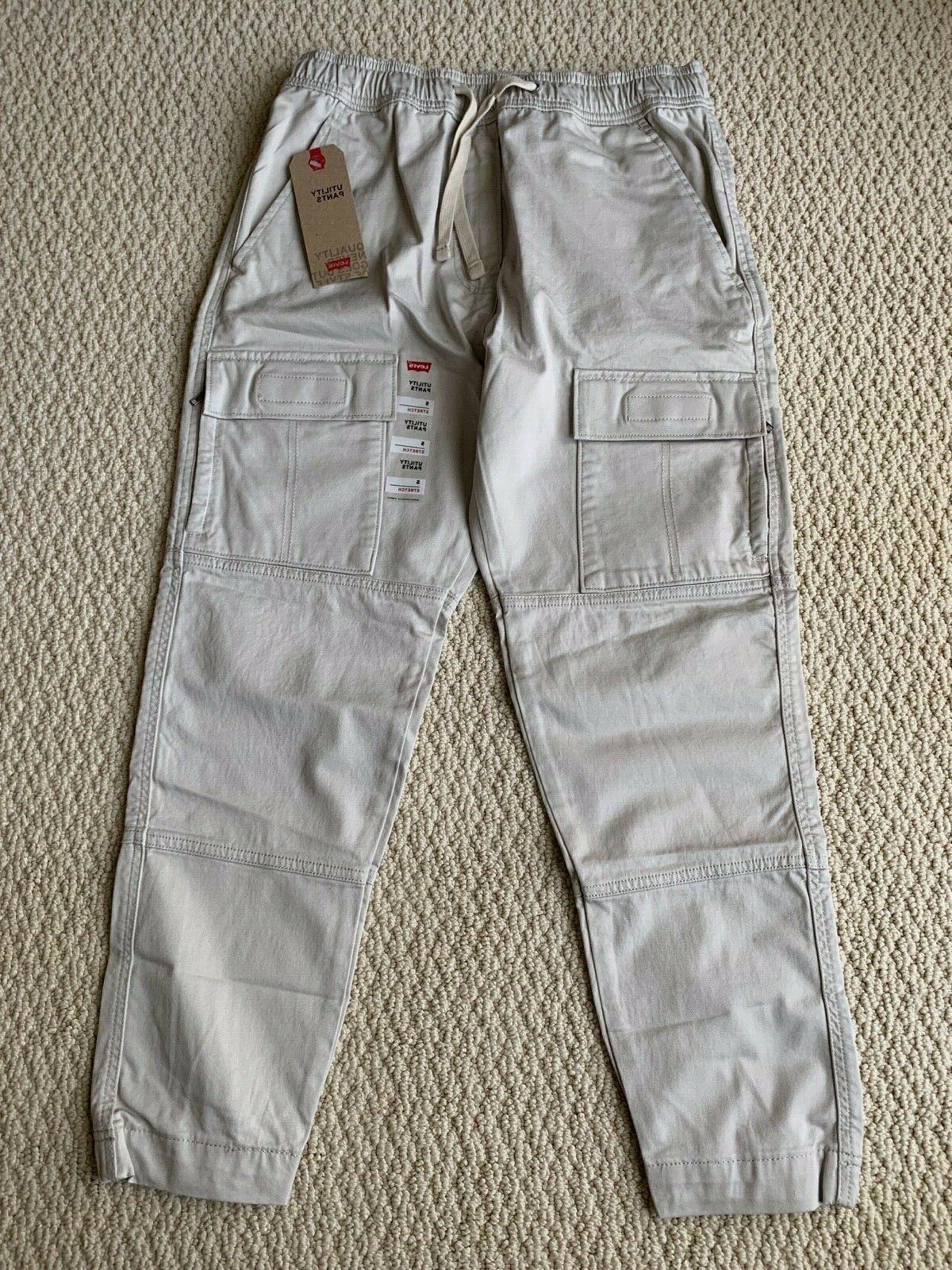 NWT Men's Levi's Stone Gray Utility Pocket Tapered Jogger S-2XL