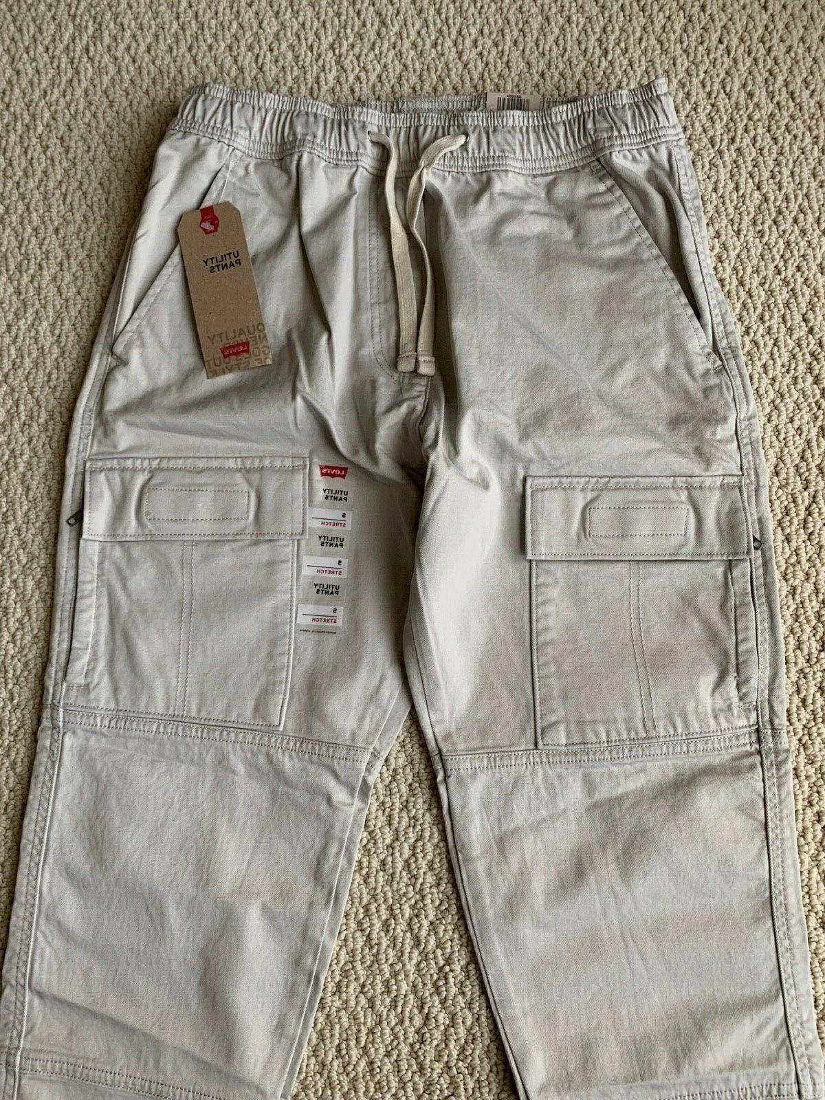 NWT Gray Utility Cargo Tapered S-2XL