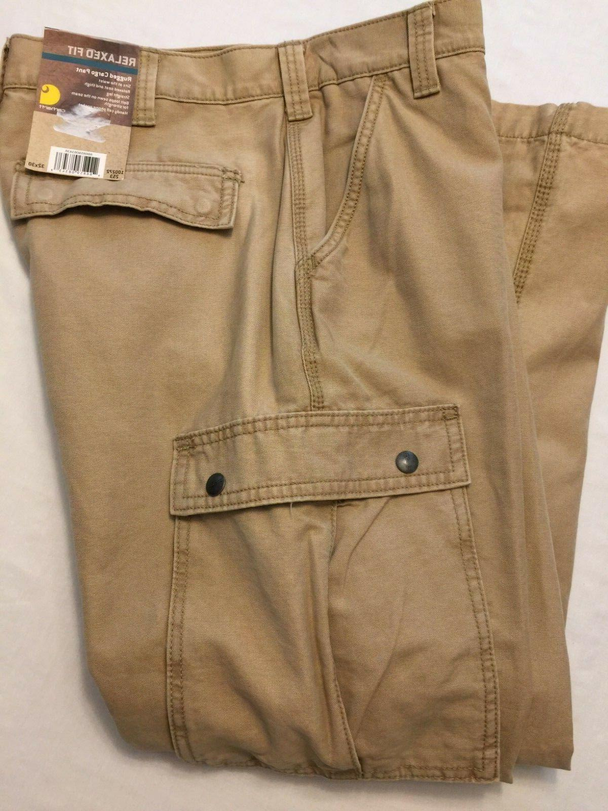 NWT Men's CARHARTT Rugged Work Pants 100272 253 039 Cargo Re