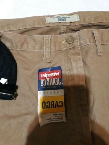 NWT Mens Brown. Cargo Pants Pockets.
