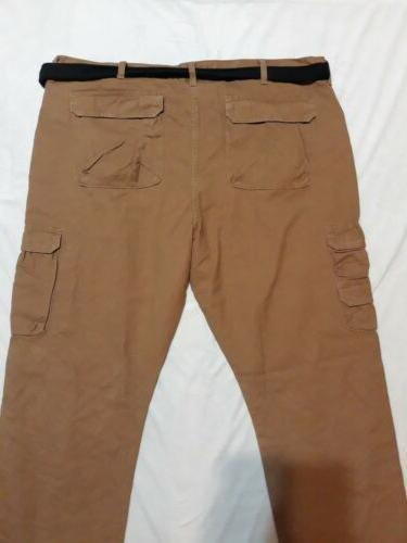 NWT Wrangler Brown. Cargo Pants Pockets.