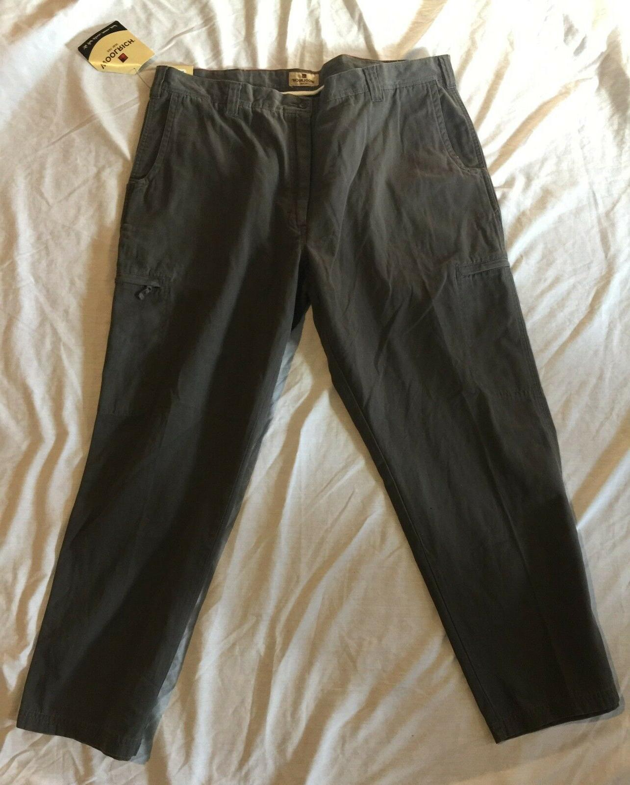 NWT WOOLRICH Slate Mens Dark Gray Straight Leg Cargo Casual