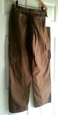 NWT Woman's LIZ CLAIBORNE CARGO PANTS Size 8 Brown with Matc
