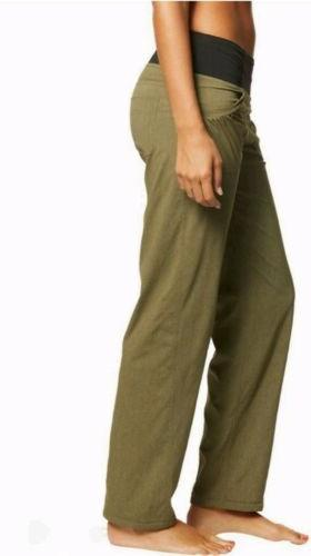 NWT prAna Women's Summit Pant Size Green Pull On Mid-Rise