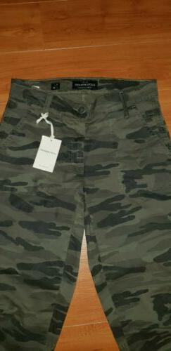 """NWT Women's Lucky Brand """"The Cargo"""" Mid Rise Camo Pants jean"""