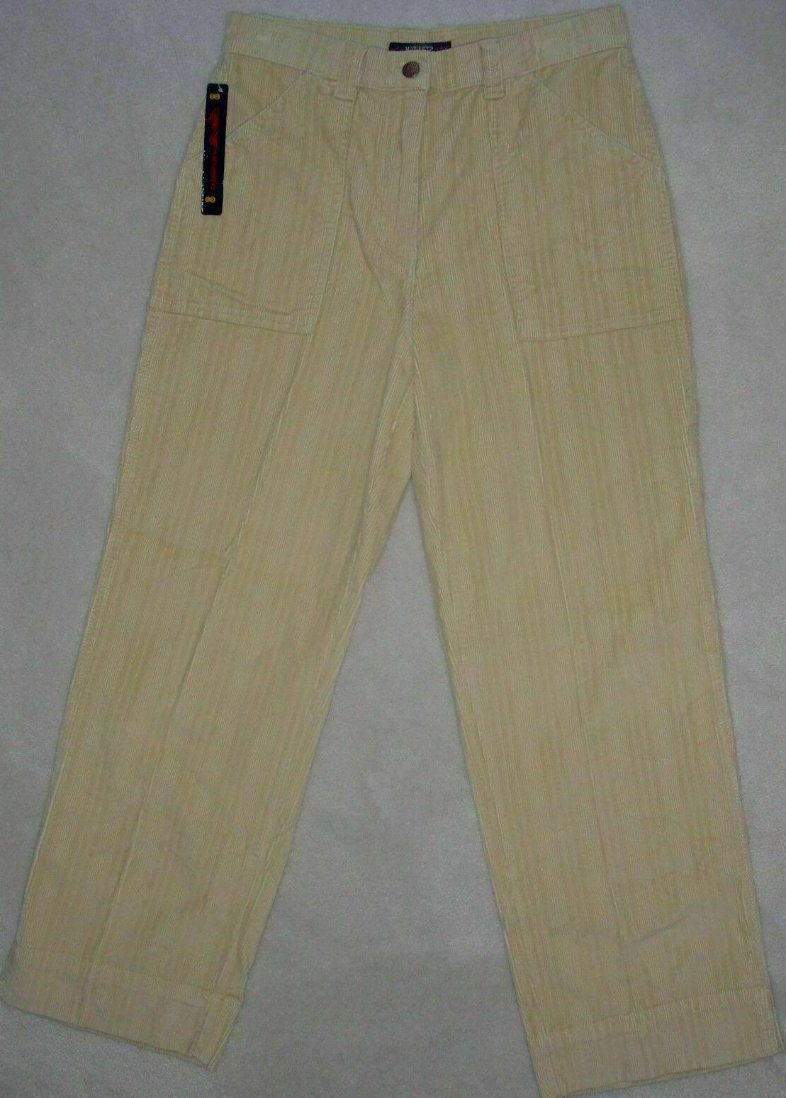 nwt womens beige stretch corduroy pants cargo