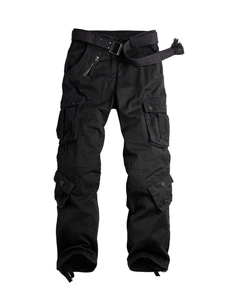 OCHENTA Cotton Cargo Pants, Casual Combat Trousers