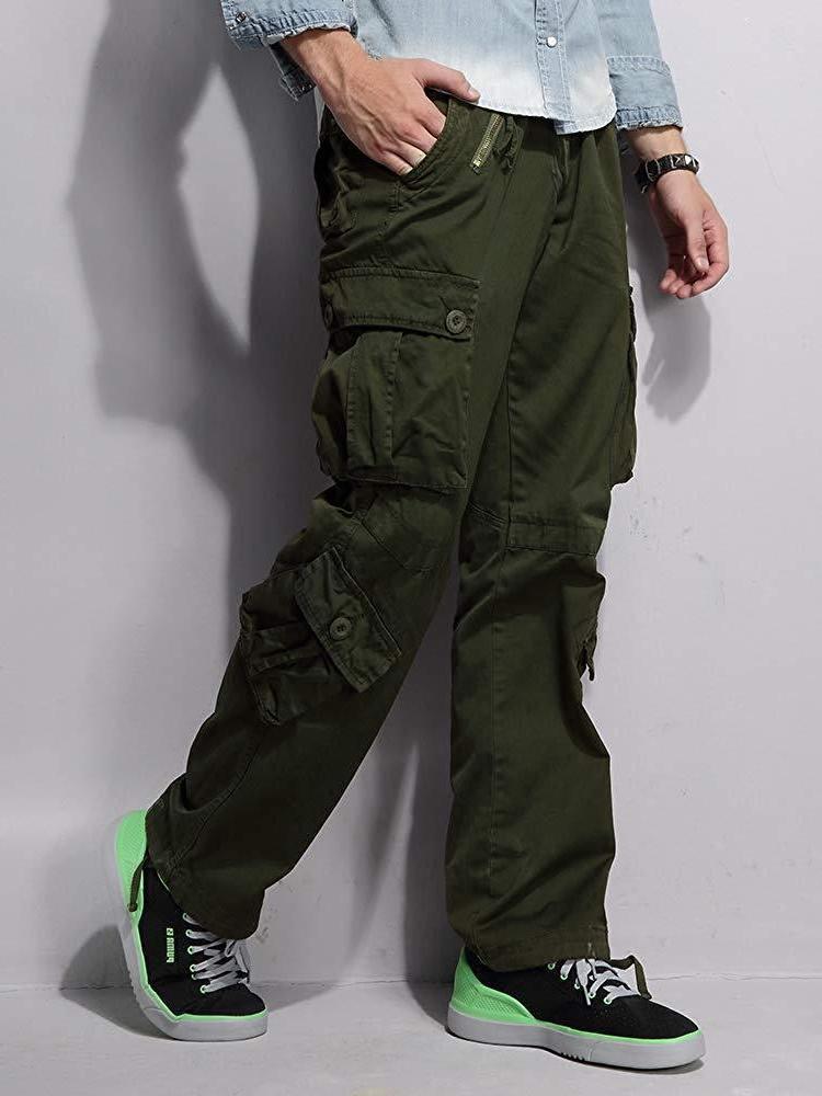 OCHENTA Cargo 8 Pockets Casual Work Trousers
