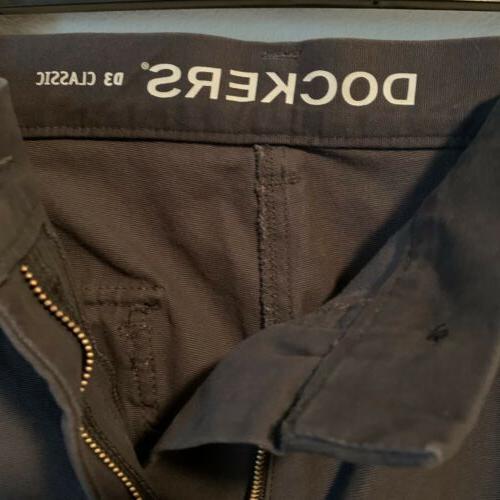 Dockers Pants Pacific Comfort Gray 38x30 NEW!