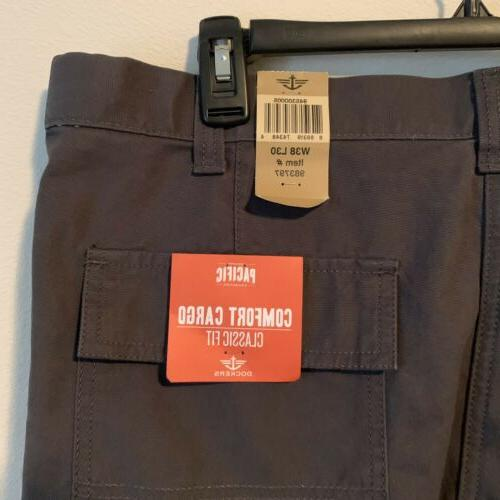 Dockers Pants Pacific Collection Comfort Cargo Classic Gray NEW!