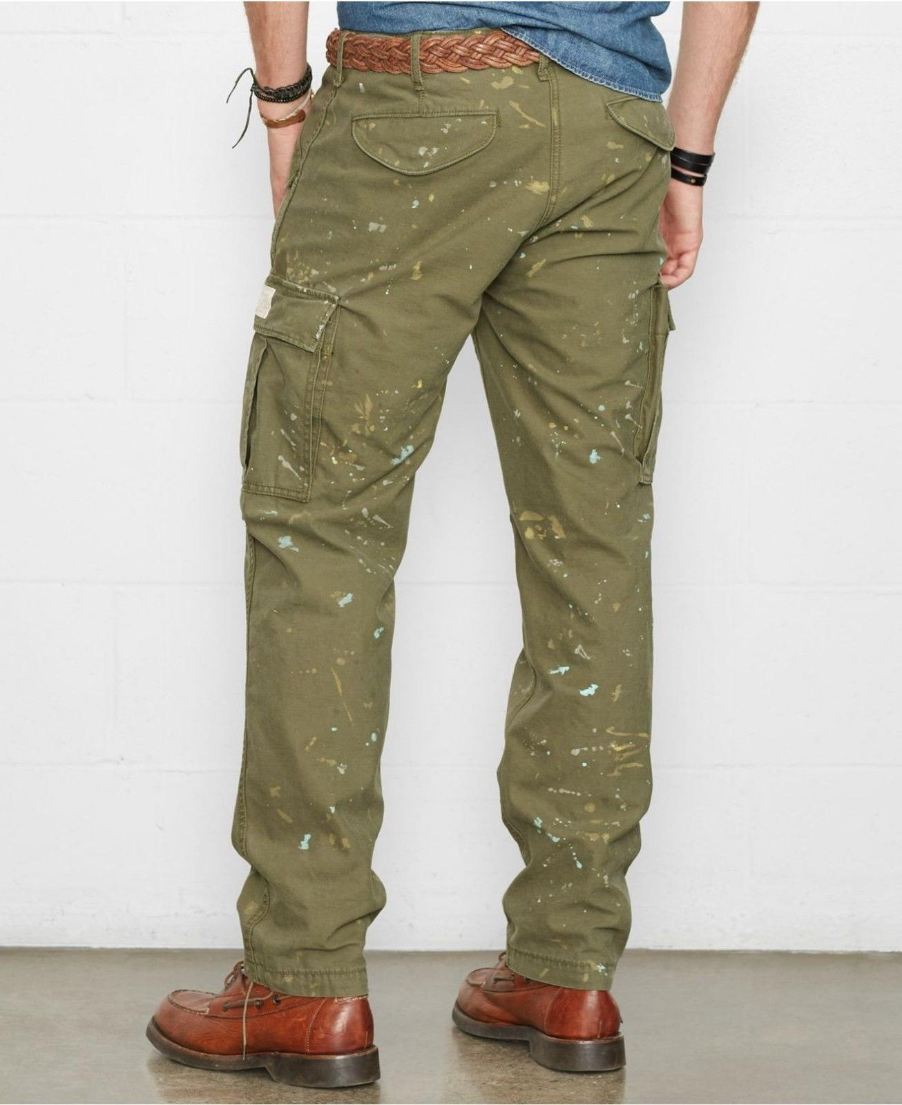 Polo & Supply Slim Fit Green Cargo Pants