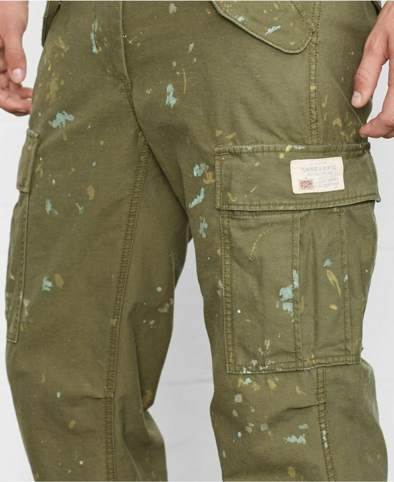 Polo Ralph Lauren Denim & Supply Fit Green Cargo