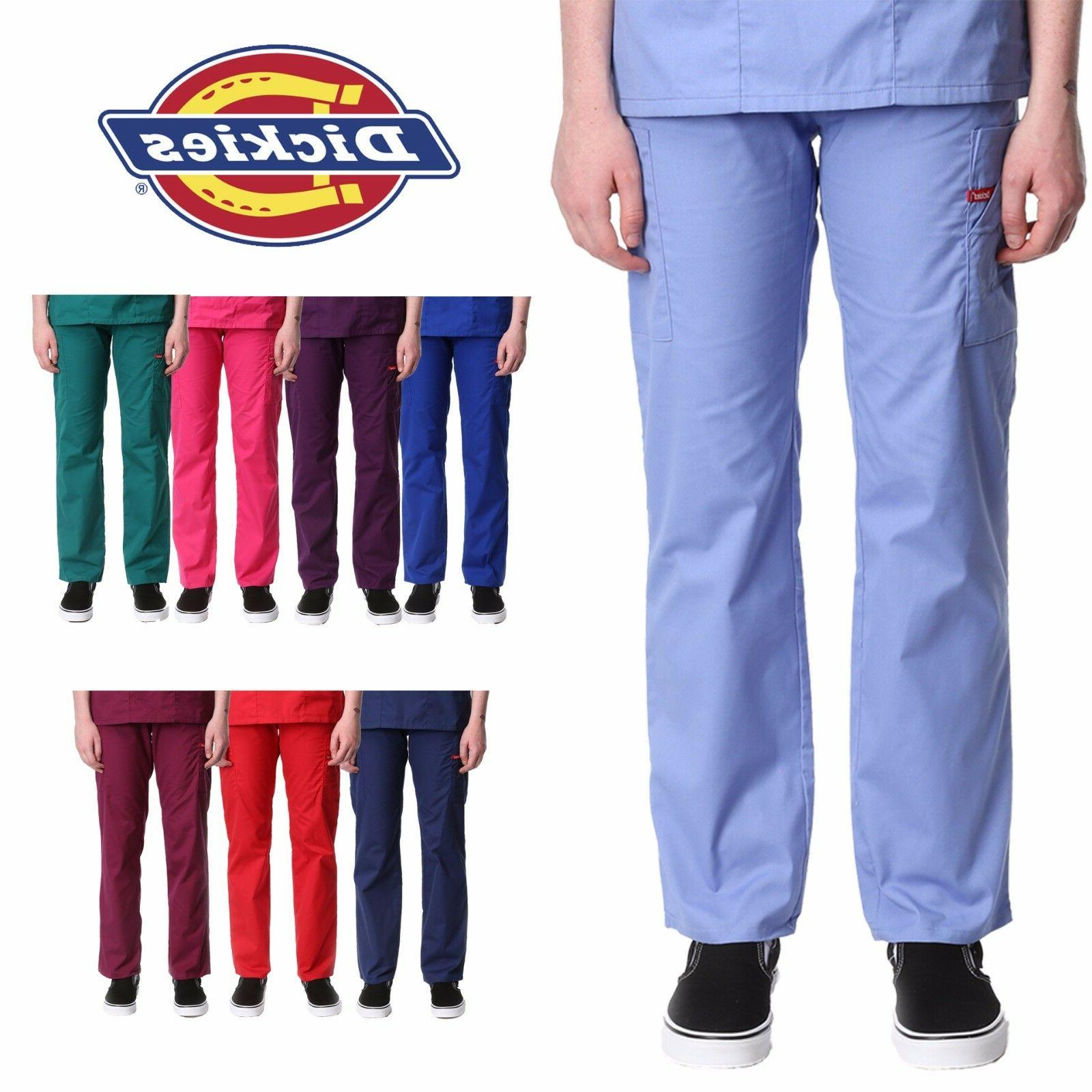 Dickies Pull-on Cargo Scrub Pants Women's Medical Uniform Bo