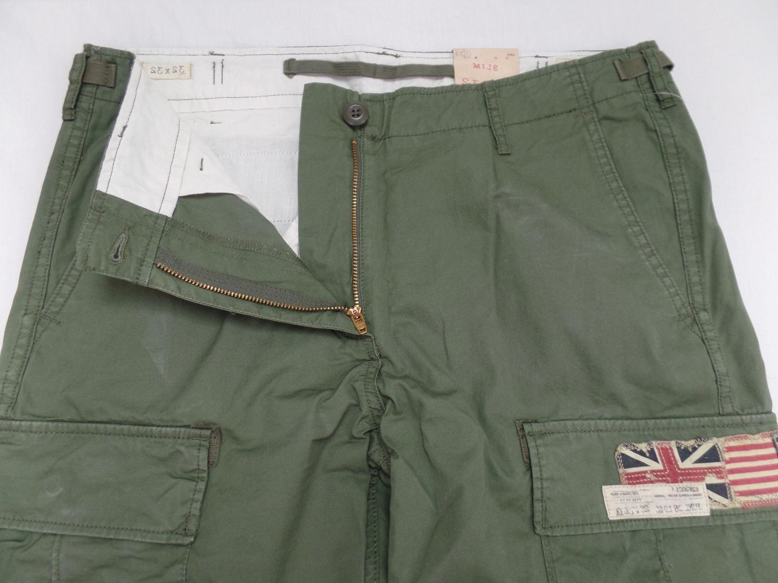 Ralph Lauren Denim Men Military US Cargo Pants