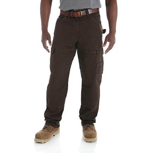 WRANGLER Riggs Workwear Ripstop Ranger Dark Brown Cargo Pant