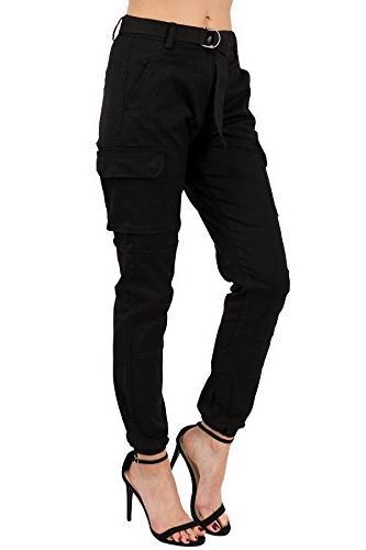 rise slim fit jogger pants