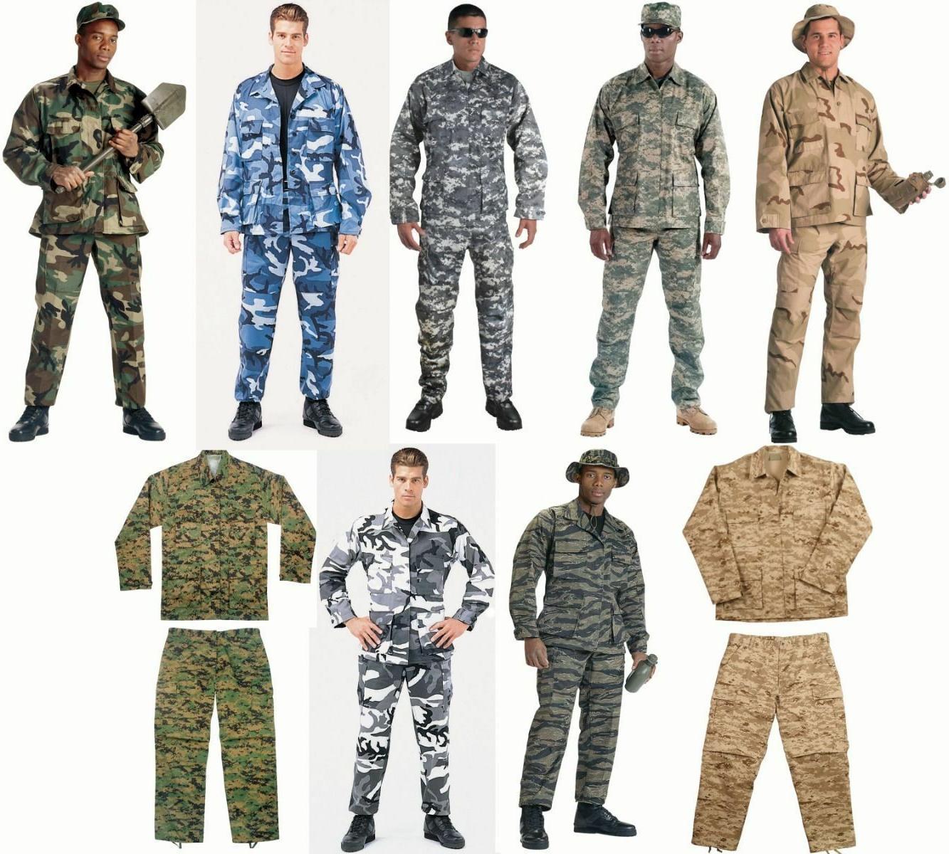 BDU SALE! Military Camo Digital BDU Tactical Cargo Uniforms