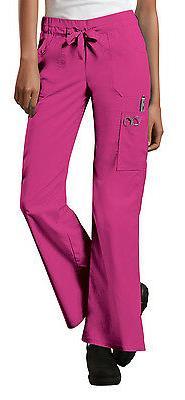 Shocking Pink Cherokee Scrubs Workwear Core Stretch Cargo Pa