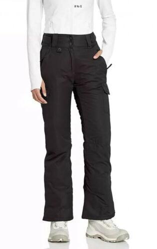 snow sport cargo womens pants black lightweight
