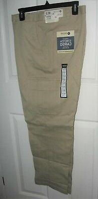 Haggar Stretch Cargo Pants 36x30 Khaki Classic Fit New with
