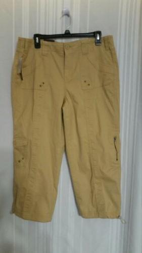 Style&co Women's Cargo Pants Light Mango Size 12