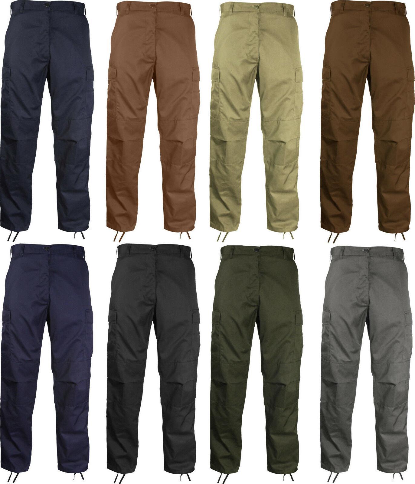 Tactical Military Uniform Trousers Fatigues Pocket
