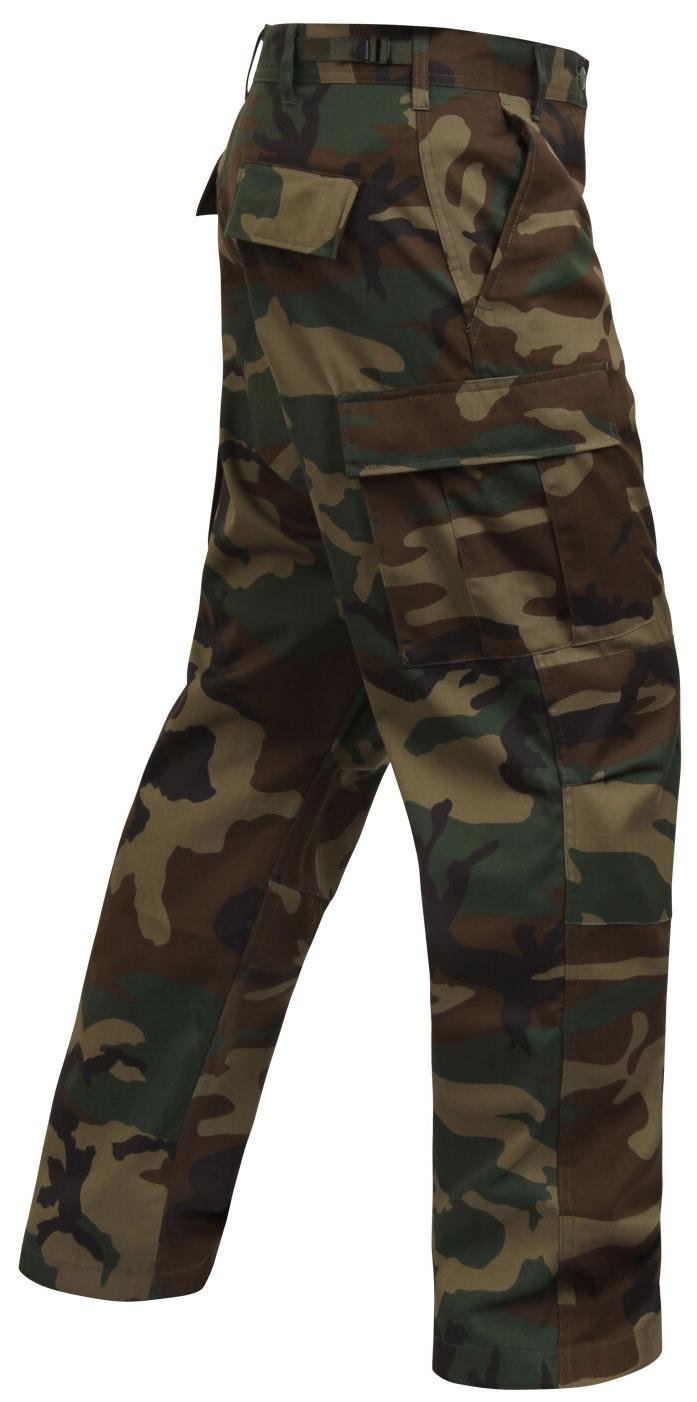 tactical bdu pants woodland camo cargo military style trouse