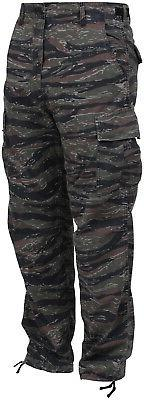 Tiger Stripe Camouflage Military BDU Cargo Bottoms Fatigue T