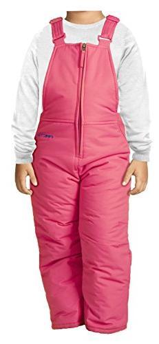 Arctix Infant/Toddler Insulated Snow Bib Overalls,Fuchsia,4T