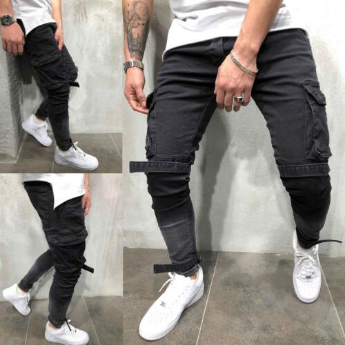 men flex regular fit straight leg cargo