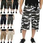 twill cargo shorts casual pants mens high