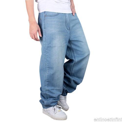 US Men Jeans Baggy Hip-Hop Trousers