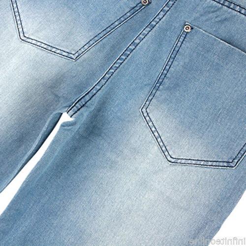 US Men Jeans Pants Baggy Loose Denim Hip-Hop Skateboard Trousers