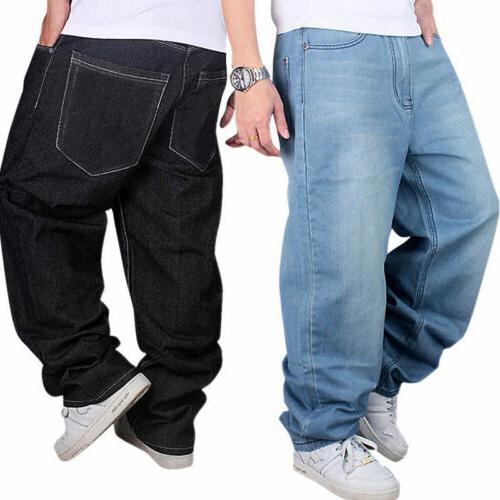 us men jeans pants baggy loose fit