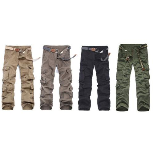 Military Men's Cotton Cargo Army Style Trousers