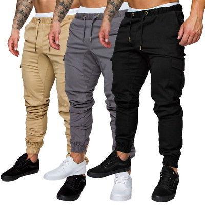US Men's Slim Fit Urban Straight Leg Trousers Casual Pencil
