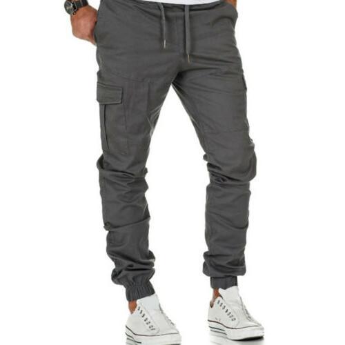 US Pants Trousers Multi Pocket Jogger Gym Joggers