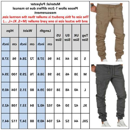 US Mens Pants Trousers Jogger Slim Stretch Gym