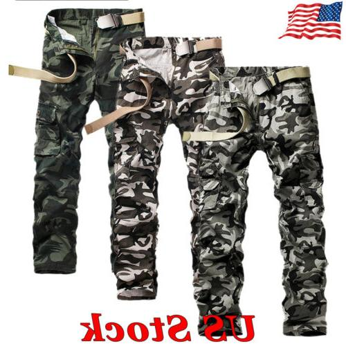 US Military Men's Camouflage Cotton Cargo Pants Combat Camo