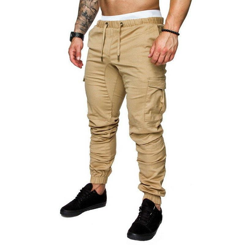 Fit Straight Trousers Casual Cargo Pants SP