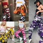 US STOCK Women Camo Cargo Trousers Casual Pants Military Arm