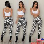 US Women Camo Cargo Trousers Casual Pants Pocket Military Ar
